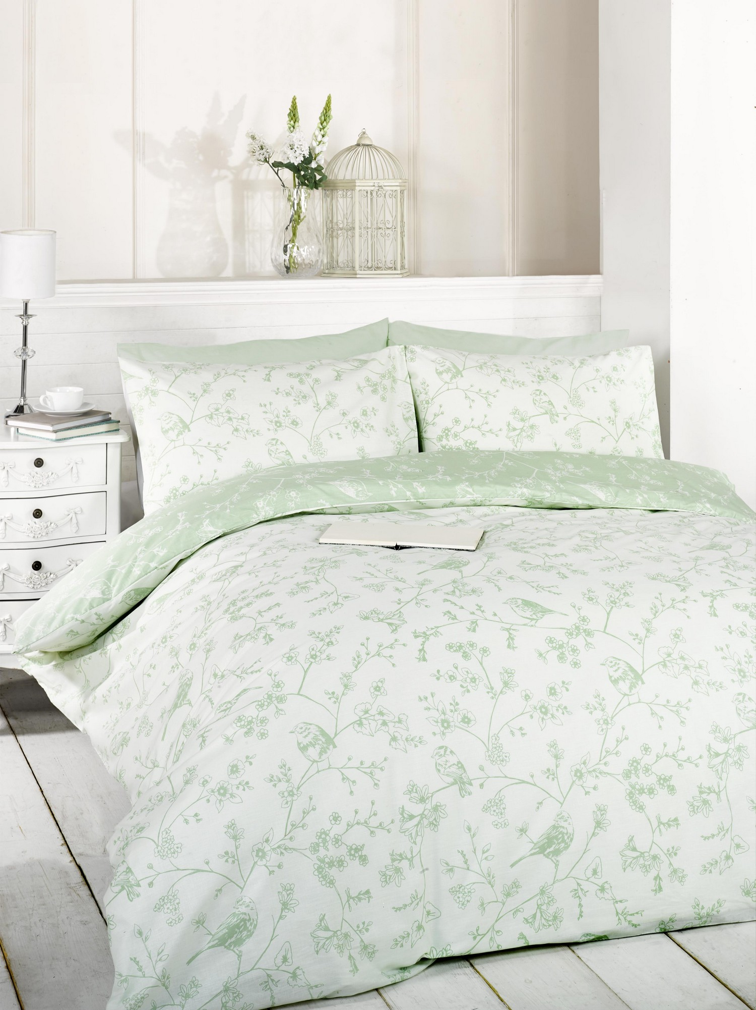 Green Duvet Quilt Cover Bedding Bed Set Single Double King