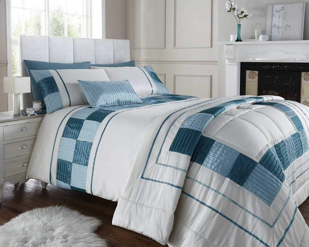 King Size Bed Throws Duck Egg Blue