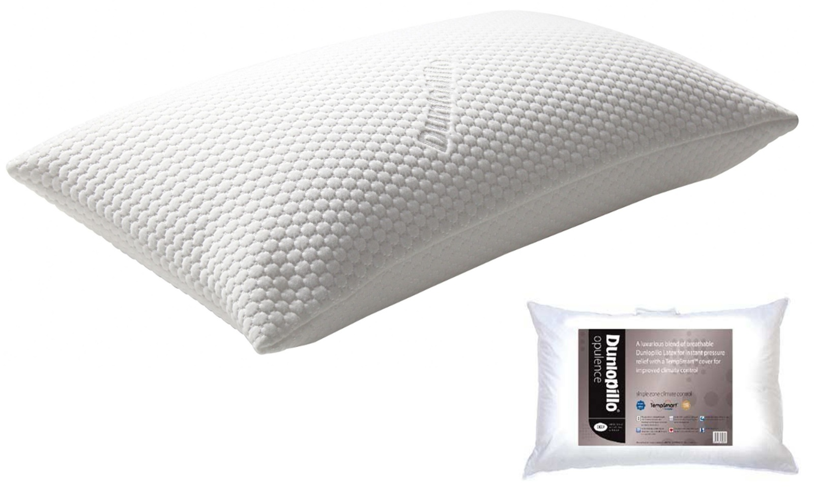 Dunlopillo Opulence Deep Luxurious Latex Pillow Washable