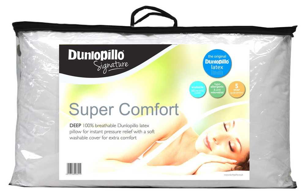 Dunlopillo super comfort latex pillow extra comfort luxury deep new ebay - Dunlopillo 100 latex ...