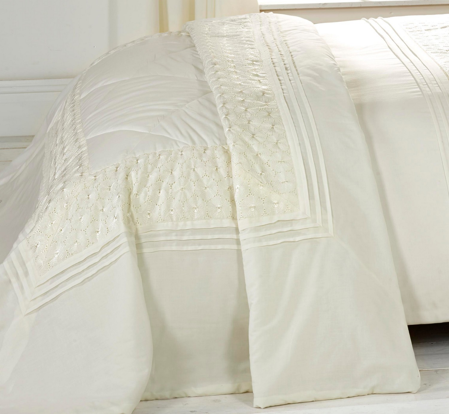 Cream Duvet Cover Bedding Bed Sets Or Curtains Matching Accessories Embroidered Ebay