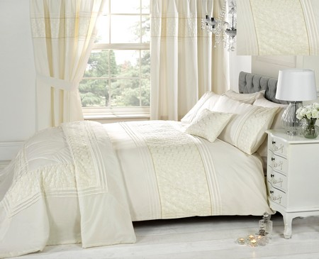 Curtains Ideas cream bedding and curtains : Cream Duvet Cover Bedding Bed Sets Or Curtains /Matching ...