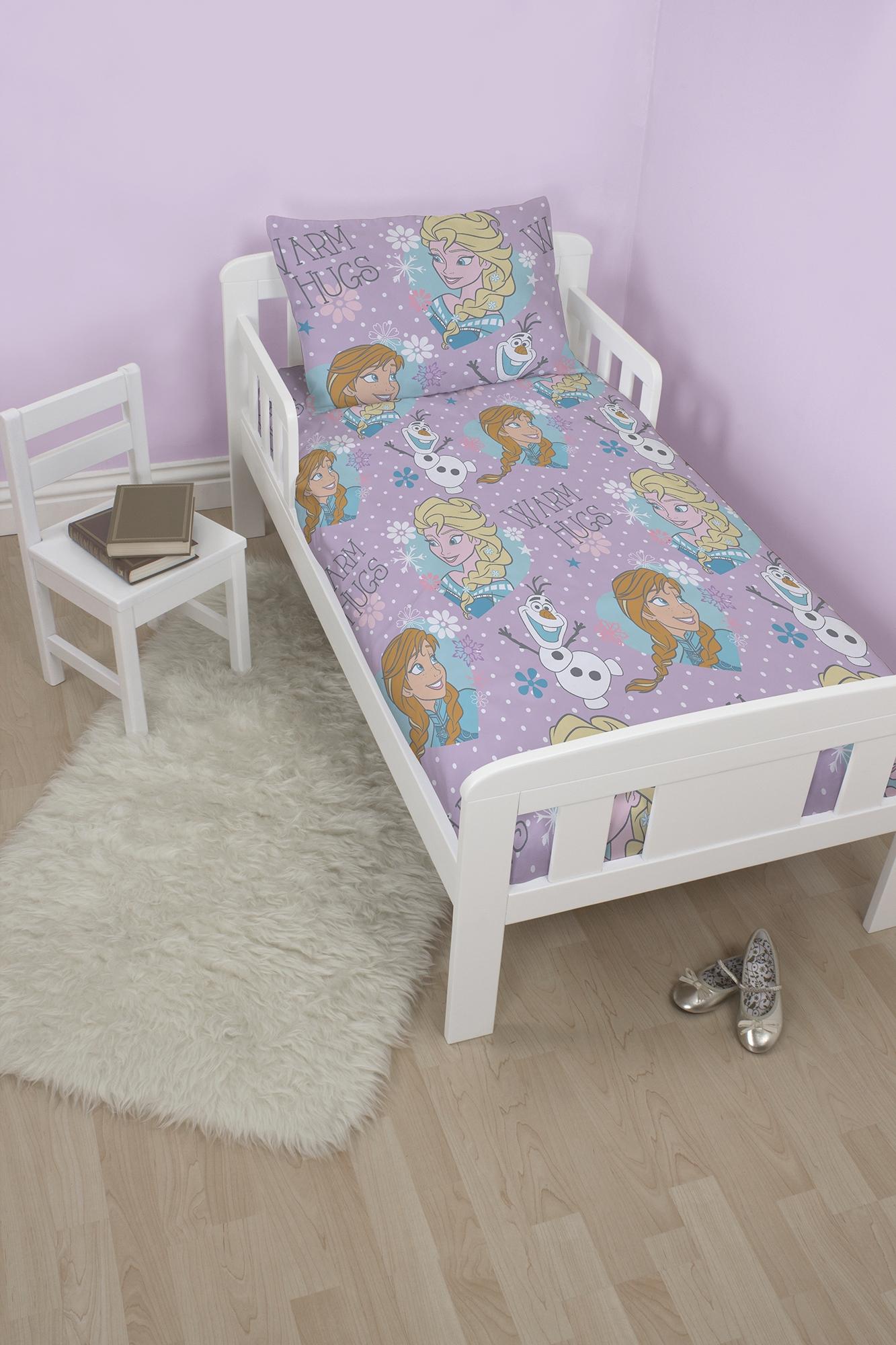 Frozen Crystal Junior Toddler Cot Bed Duvet Quilt Cover
