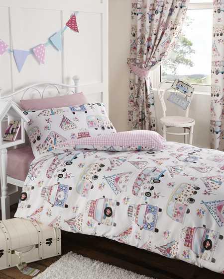 Bedroom Design Images Bedroom Valances Bedroom Curtains Uk Bedroom Bin B M: Camper Van Double Duvet Cover & Pillowcase Bed Set White