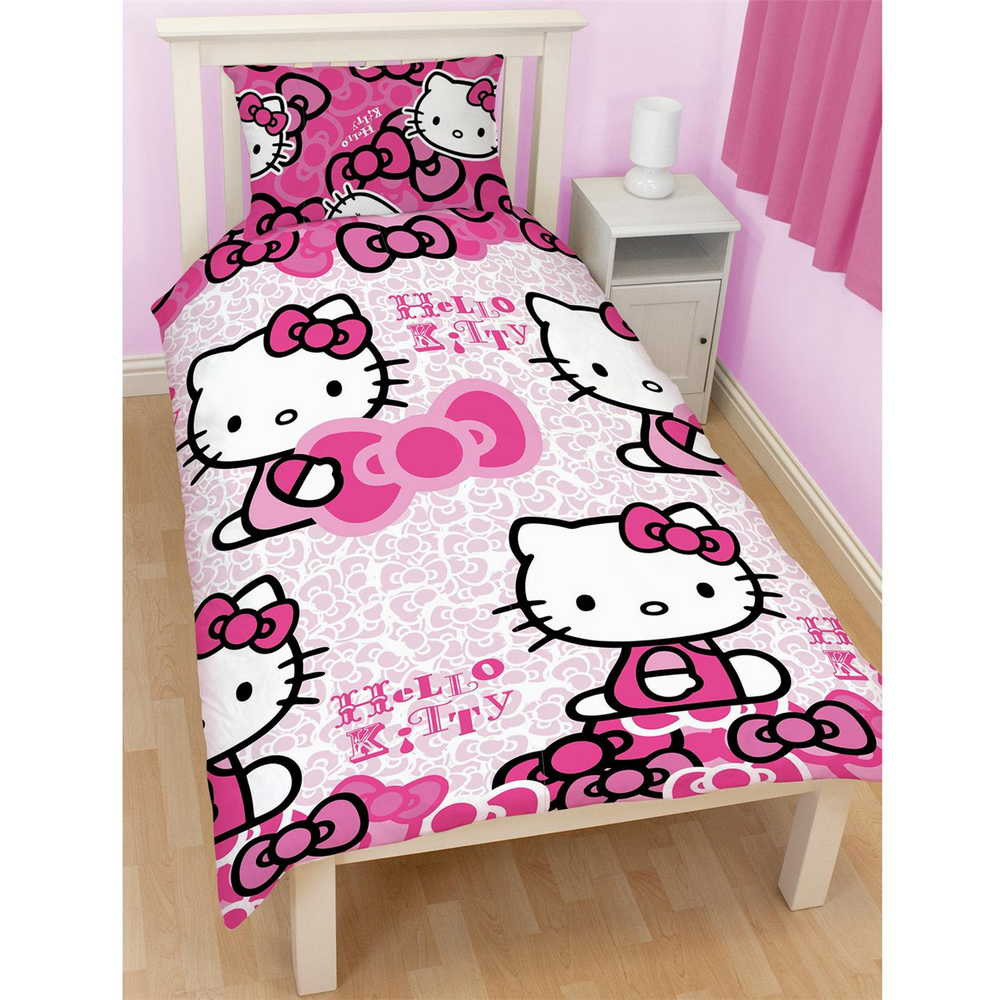 filles enfants personnage simple et housse de couette double literie lit jeux ebay. Black Bedroom Furniture Sets. Home Design Ideas