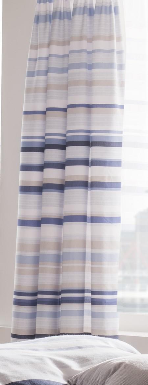 blue grey white striped 66x72 inch catherine lansfield pencil pleat