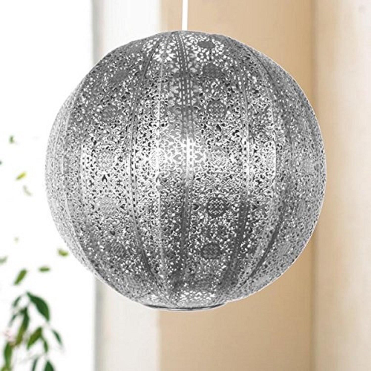 Silver Or Bronze Coloured Light Shades Fittings Moroccan