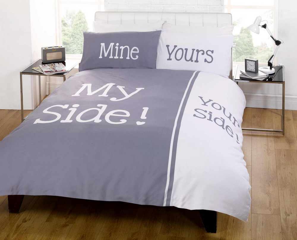 My Side Your Side Double Amp King Size Duvet Cover Bed Set