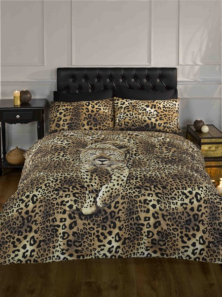 Prowling Leopard Single Duvet Quilt Cover Bedding Bed Set