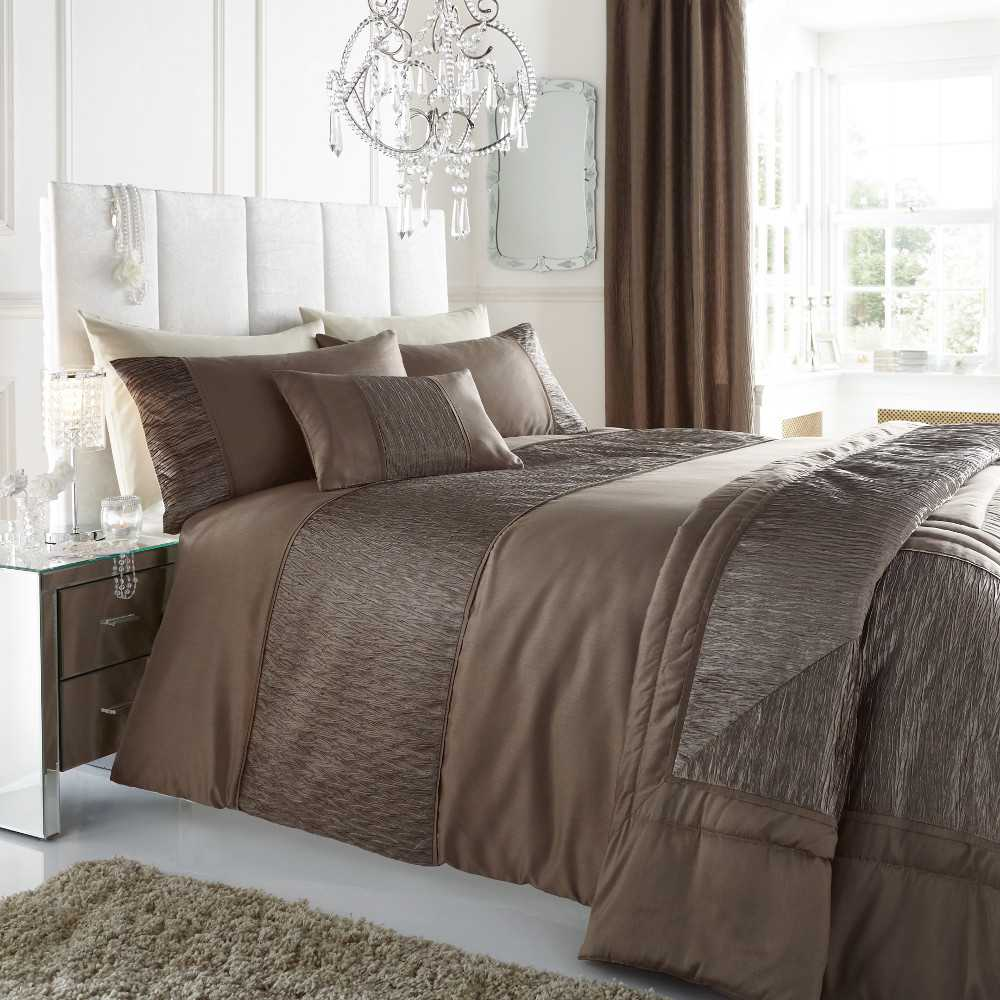Stylish Sahara Faux-Silk Bedding Sets & Matching Accessories 7 Colours 3 Sizes