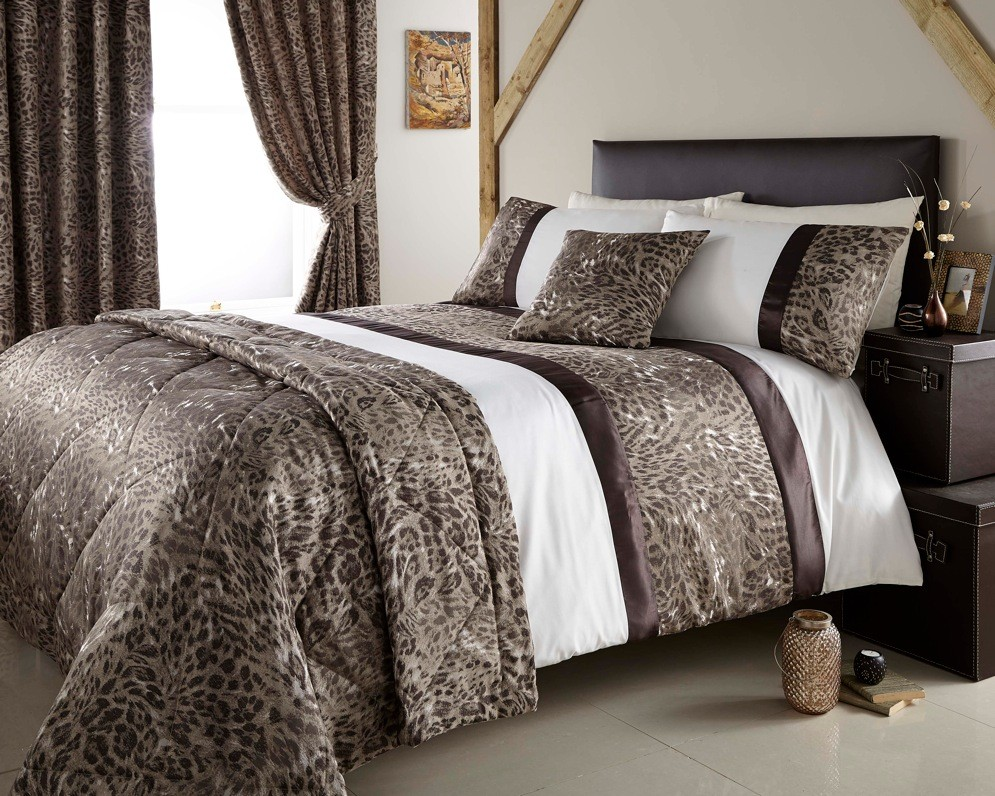 Jacquard leopard design duvet quilt cover bed set throw - Fundas nordicas jacquard ...