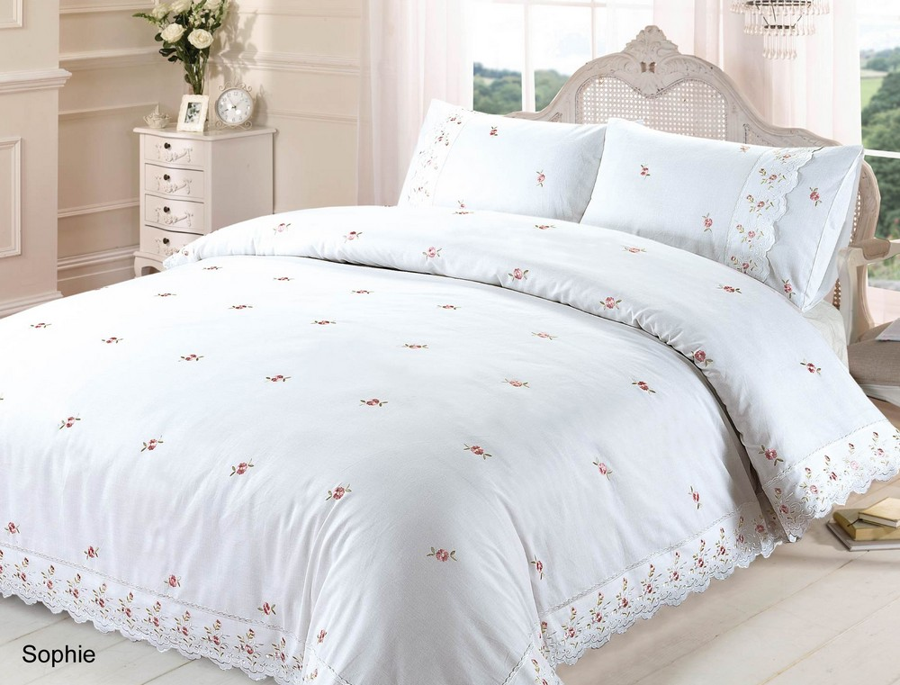 White Duvet Quilt Cover P Case Bedding Bed Sets Single