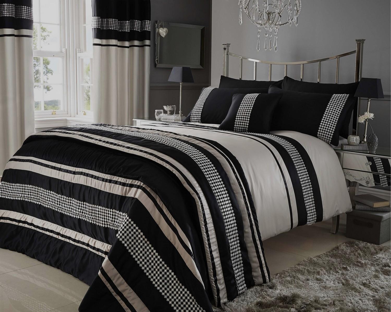 cotton metallic lustre velvet pin duvet cover stone pillowcases blocks white